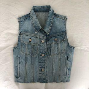 Rag & Bone sleeveless denim vest (size: S)